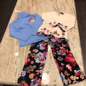 Floral print matching top and bottom